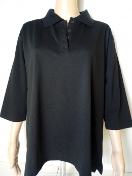 VIACORTESA-póló-fekete (50,52)