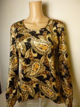 LEARA FASHION-tunika-sárga (42,44)