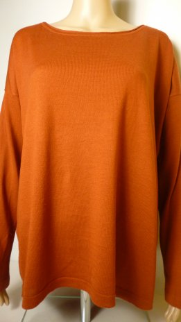ANONYM-pulóver-téglavörös (46,48)